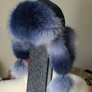 hat real fur leather Russian style New without tag